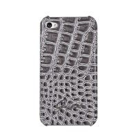 Чехол GUESS Croco Back Cover GREY для iPhone 4/4S